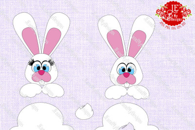 Easter Bunny 1 JPEG, PNG, SVG, DXF, EPS