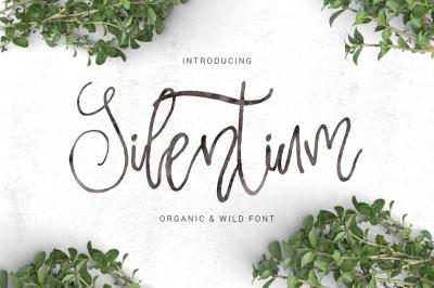 Silentium - calligraphic font