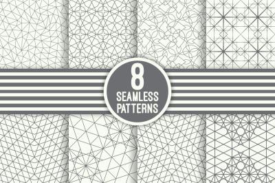 Modern geometric seamless patterns