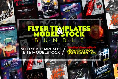 Flyer Templates & Model Stock Bundle