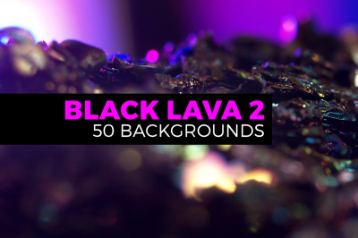 50 Abstract Black Lava landscapes