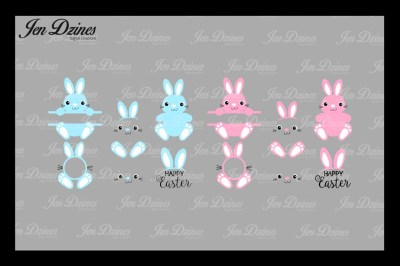 Bunny Bundle SVG DXF EPS PNG