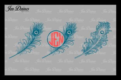Peacock Feathers SVG DXF EPS PNG