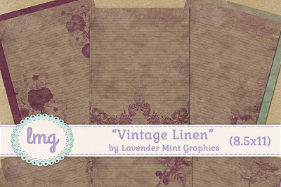 Vintage Linen Journal Papers