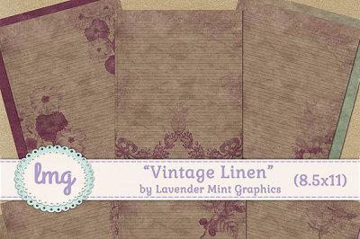 Vintage Linen Journal Papers
