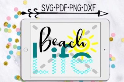 Beach Life Cut Design