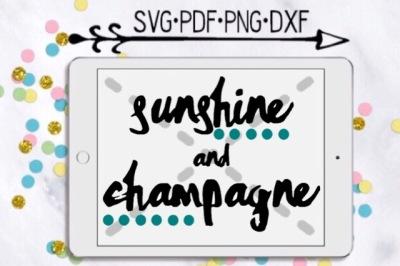 Sunshine and Champagne Cut Design