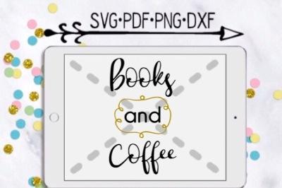 Books and Coffee Cut Design