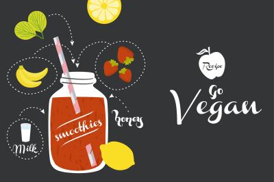 Vegan recipe card