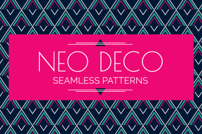 Neo Deco Seamless Patterns