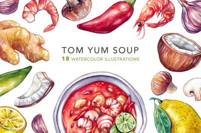 Tom Yum Soup + Ingredients