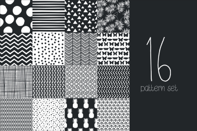 16 Hand draw pattern set