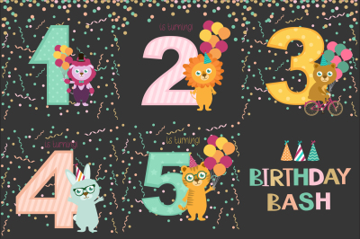 5 Birthday bash card