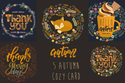 5 Autumn card