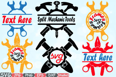 Split & Circle Mechanic Tools Silhouette SVG Cutting Files