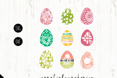 Easter Eggs SVG DXF Files