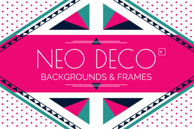 Neo Deco Frames and Design Templates