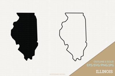 Illinois Vector / IL SVG