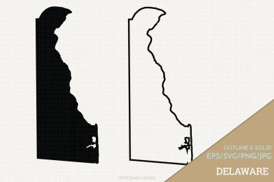 Delaware Vector / DE SVG