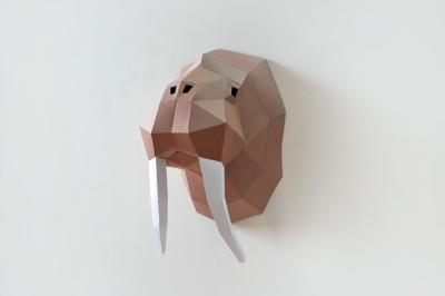DIY Walrus head trophy - 3d papercrafts