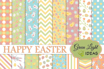 Easter Digital Papers, Easter Backgrounds