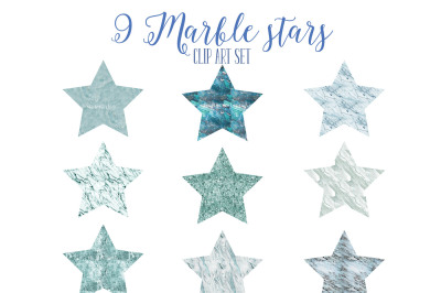 Blue marble stars set 1