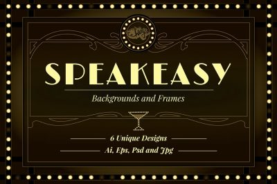 Speakeasy Backgrounds and Frames