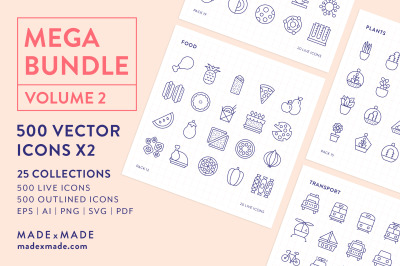 Line Icons – Mega Bundle Vol 2