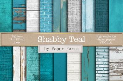 Shabby teal textures