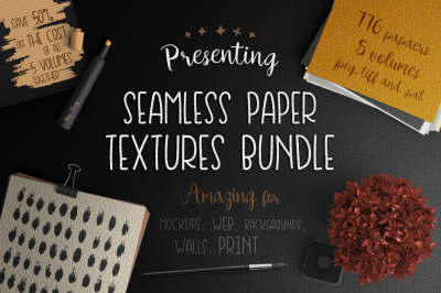 Seamless Paper Textures Bundle