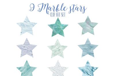 Blue marble stars set 2