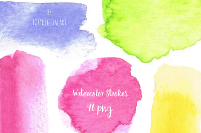 Watercolor Brush Strokes Clipart