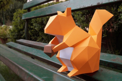 DIY Squirrel (Printable) - 3d papercrafts