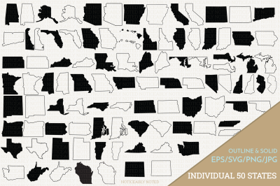 United States Vector - Individual SVG files of all 50 States