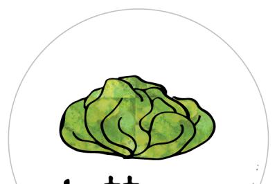 Lettuce Gardening Label