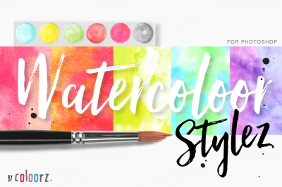 Watercolor Styles + 60 Vectors