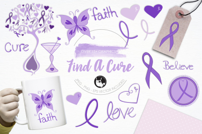 Find a Cure graphics and illustrations