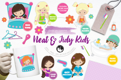 Neat & Tidy Girls graphics and illustrations