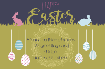 Happy Easter cards and labels
