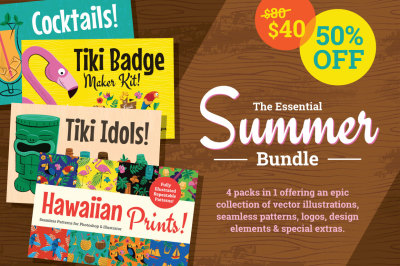 Hawaiian & Tiki Summer Graphics Bundle