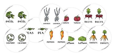 Half Circle Gardening Labels