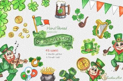 Saint Patrick's Day -Watercolor Clipart Kit