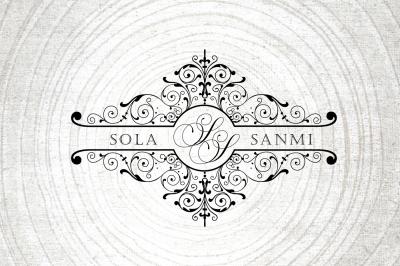 Luxury Wedding Logo-Wedding monogram