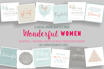 Wonderful Women Social Media Quote Pack