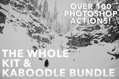 The Whole Kit and Kaboodle Photoshop Actions Bundle