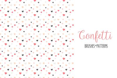 Confetti Scatter Brushes & Patterns for Illustrator