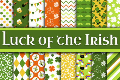 Luck of the Irish Digital Paper - St Patricks Day Paper