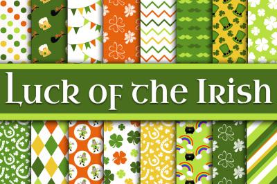 Luck of the Irish Digital Paper - St Patricks Day Paper