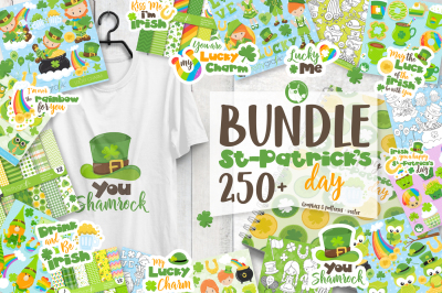 St-Patrick's Day MEGA BUNDLE - 250+ Graphics