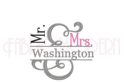 Mr & Mrs Ampersand Split Frame #551
